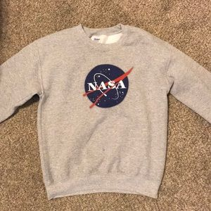 Grey NASA crew neck
